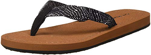 O'Neill Damen FW Woven Strap Sandals Riemchensandalen, Schwarz (Black AOP W/White 9910), 38 EU