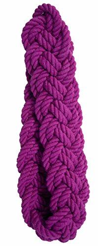 Aroa XXI Iman Escocia Abrazadera Decorativa para Cortinas Diseño Trenzado, Lino, Rojo, 32x3.5x1 cm