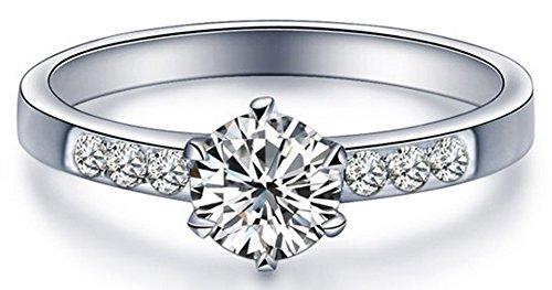 SaySure - 100% Real Pure 925 Sterling Silver Elegant Bride Double Row...