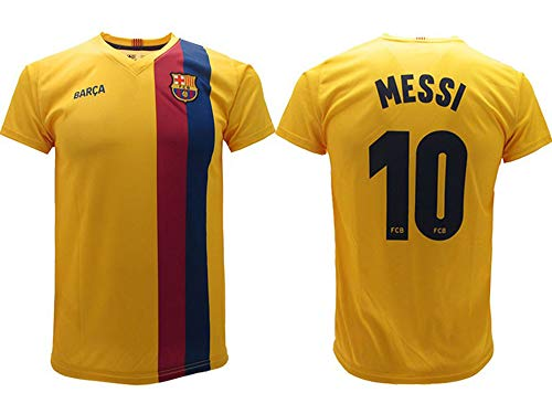 Trikot Messi 2020 Barcelona offizielles Trikot Away 2019 2020 in Blisterverpackung Trikot Barcelona 10 Kinder Jugendliche Erwachsene gelb, gelb, L