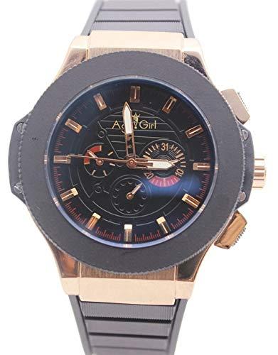 GFDSA Luxusmarke Männer Automatische Selbstwind Mechanische Rose Gold Silber Schwarz Edelstahl Kautschukband Big Geneve Uhren 46mm 3