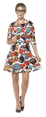 Smiffys 45953L – komisk kostym med jacka och klänning