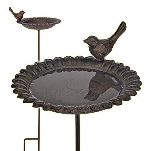 2 in 1 Vogeltränke und Futterstation aus Gusseisen