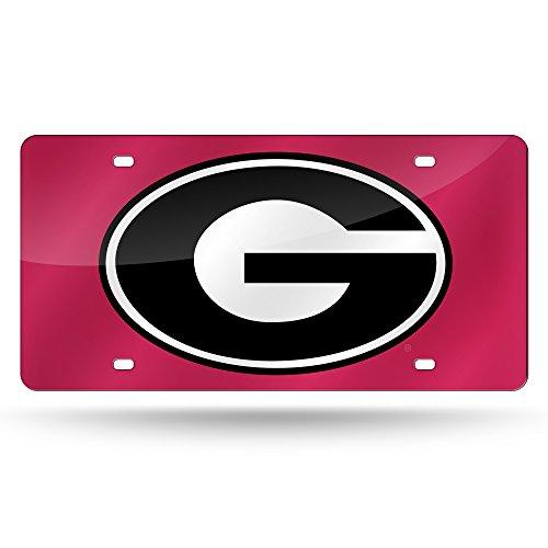 NCAA Georgia Bulldogs Laser Inlaid Metal License Plate Tag