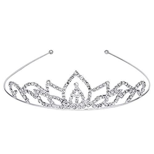 ROFIFY Women Girls Silver Crystal Crown with Comb Wedding Bridal Queen Charming Rhinestone Headband Tiara FJ03