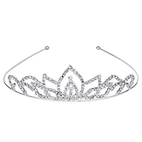 ROFIFY Women Girls Silver Crystal Crown with Comb Wedding Bridal Queen Charming Rhinestone Headband Tiara FJ03