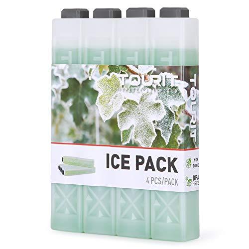TOURIT Kühlakkus für Kühltasche Kühlbox Kühlrucksack Wiederverwendbar Lange-andauernd Kühlelemente für Camping, Strand, Picknicks, Angeln, Reisen und mehr