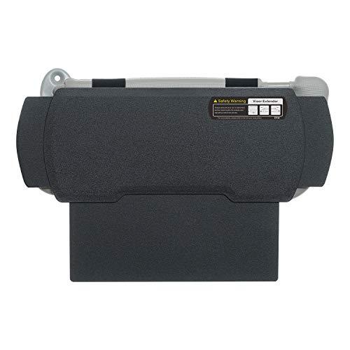 TFY Car Visor Extender Anti-Glare Sun Visor Extender Windshield and Side Window Sunshade and UV Rays Blocker - Black