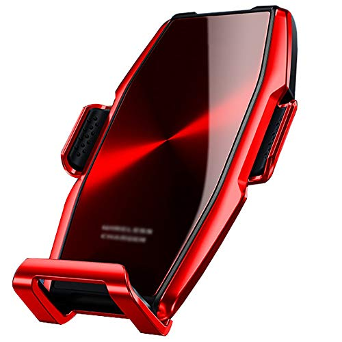 Télefono Cunas Coche sostenedor del teléfono móvil - soporte for teléfono móvil con carga inalámbrica 360 grados de rotación Vents, fuerte estabilidad, apto for 4.7-6.5 pulgadas de teléfonos móviles F