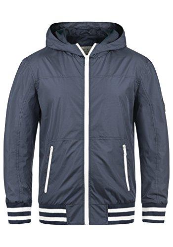 Blend Novan Herren Übergangsjacke Herrenjacke Jacke mit Kapuze, Größe:L, Farbe:Mood Indigo (74648)