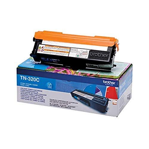 Brother TN320C Toner Originale, Capacità Standard, 1500 Pagine, per Stampanti HL4140CN / HL4150CDN / HL4570CDW / HL4570CDWT / DCP9055CDN / DCP9270CDN / MFC9460CDN / MFC9465CDN / MFC9970CDW, Ciano