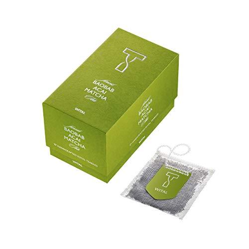 WITAL TEA BAOBAB ACAI MATCHA - Hagebutte Zitronenmelisse Tee - Matcha Tee Kräutertee Mischung - 17 plastikfreie Teebeutel