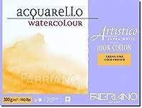 ファブリアーノArtistico NOT水彩ブロック - 小(23x30.5cm) - 高ホワイト