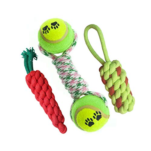 Pet Needs Combo of 3 Rope Knotted Toys