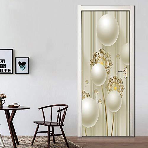 BXZGDJY deurbehang, rond, reliëf, zelfklevend, deurposter, fotobehang, poster, behang, Pvc 3D-deur, zelfklevend, doe-het-zelf, deurfoto, deurbehang, zelfklevend 80X200CM
