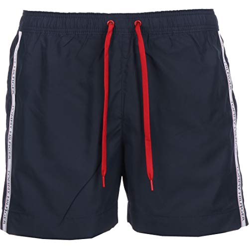 Tommy Hilfiger Medium Drawstring Boxer, Bleu (Pitch Blue), X-Large (Taille Fabricant:) Homme