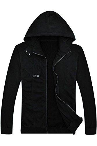 Ya-cos Tokyo Ghoul Ken Kaneki Cosplay Costume Cotton Long-Sleeve Jacket Hoodie Coat Black