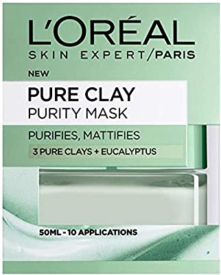 L'Oreal Paris Pure Clay Purity Mattifying Eucalyptus Face Mask 50 ml by L'Oreal
