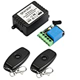 QIACHIP DC 12V 1CH 433Mhz RF Wireless Relay Remote Control Light Momentary Switch Transmitter with Receiver (1relays)