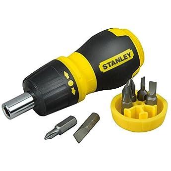 Foto di Stanley 0-66-358 Cacciavite PortaInserti Magnetico, Set di 6 Inserti, Nano Cricchetto