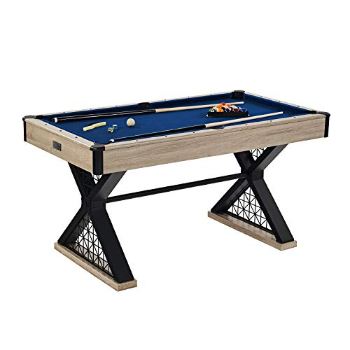 Barrington Billiards Brooks 60 Inch Billiard Table, Black/Blue