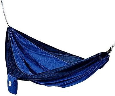 Hammaka 10200-KP P Parachute Silk Lightweight Portable Double Hammock, Light Blue/Dark Blue