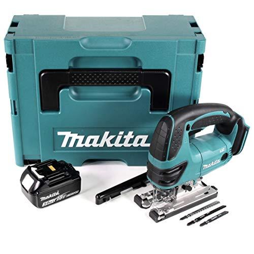 Makita DJV 180 F1J Scie sauteuse sans fil 18 V + 1 batterie 3,0 Ah + Makpac – sans chargeur
