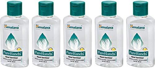 Himalaya PureHands Hand Sanitizer (Lemon) – 100ml (Pack Of 5)