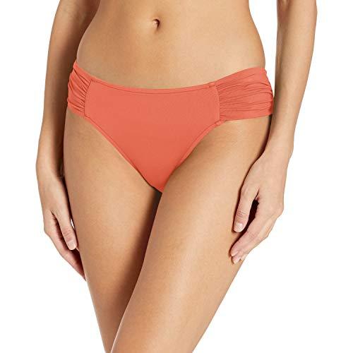 Seafolly Damen Ruched Side Retro Bikini Bottom Swimsuit Bikinihose, Melon, 38