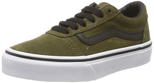 Vans Jungen Ward Suede Sneaker, Grün ((Weatherized) Beech/Black Xq4), 38 EU
