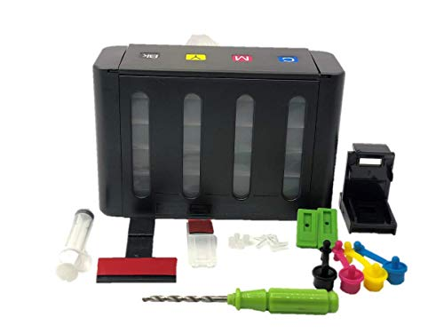 TechNart CISS Ink Tank Kit with All Accessories Compatible for DeskJet 1000,1010,1015,1510,2000,2050,3050,370,380,2120,2179,2180,2235,2275,2276,2280,4185,4355,5610,3606,3608,5508,1400