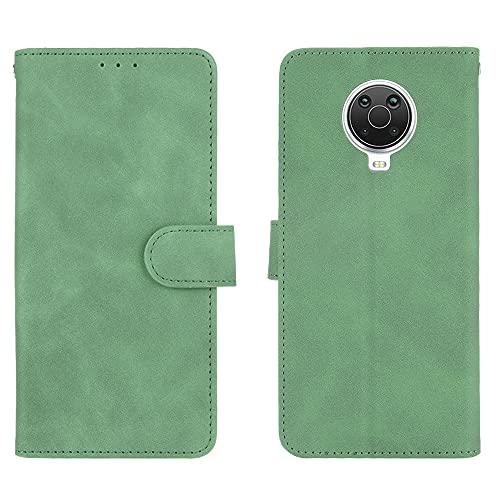 GOGME Leder Hülle für Nokia G10 | G20 Hülle, Premium PU/TPU Leder Folio Hülle Schutzhülle Handyhülle, Flip Hülle Klapphülle Lederhülle mit Standfunktion und Kartensteckplätzen, Grün