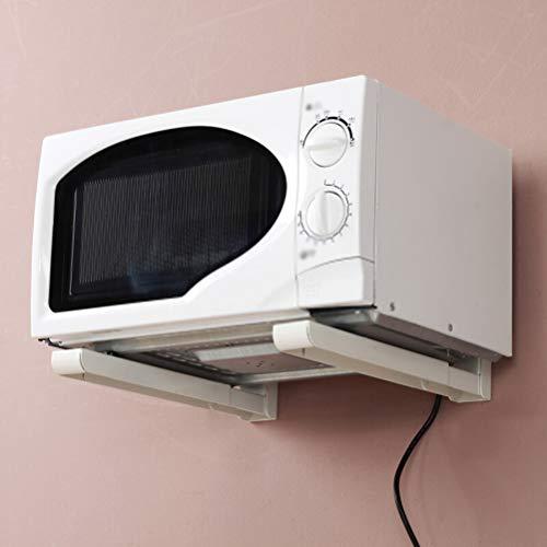 Kitchen furniture - Étagère de rangement multifonctionnelle pliante rétractable de cuisine de support de four à micro-ondes en métal WXP (Couleur : Blanc)