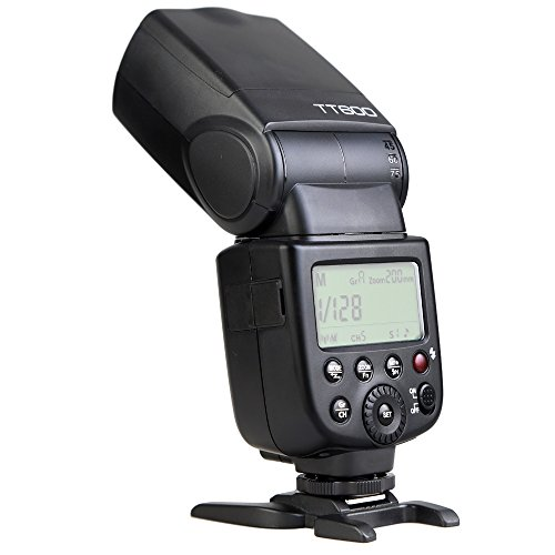 Godox Thinklite TT600 Maestro-Esclavo Flash Speedlite con Incorporado 2.4G Sistema de Dispro GN60 para Canon Nikon Pentax Olympus Fujifilm