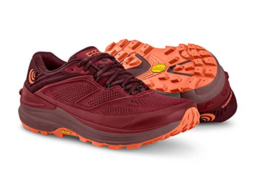 Topo Athletic Mujer Ultraventure 2 Cómodo Ligero 5MM Drop Trail Zapatillas de running para Trail Running Zapatillas Atletismo para Trail Running, Berry/Naranja, Talla 6