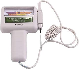 Jacksking Wasserqualitätsprüfgerät, tragbares pH Prüfgerät Chlor Messgerät Spa Water Quality Monitor Checker für Trinkwasser im Haushalt, Aquarium, Schwimmbäder, Hydrokultur