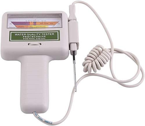 Jacksking Wasserqualitätsprüfgerät, tragbares pH-Prüfgerät Chlor-Messgerät Spa Water Quality Monitor Checker für Trinkwasser im Haushalt, Aquarium, Schwimmbäder, Hydrokultur