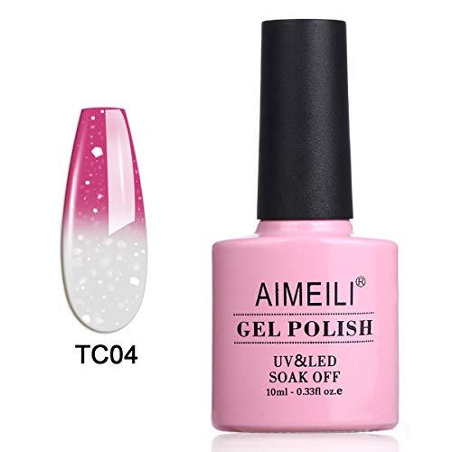 AIMEILI UV LED Nagellack Thermo Gellack ablösbarer Temperatur Farbwechsel Gel Nagellack Gel Polish...