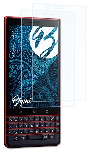 Bruni Schutzfolie kompatibel mit BlackBerry Key2 LE Folie, glasklare Bildschirmschutzfolie (2X)