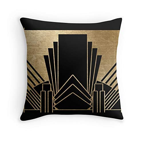 HOJJP Kissenbezug Art Deco Design für Sofa Couch Wohnzimmer Bett Dekorativ (Quadrat 20x20)