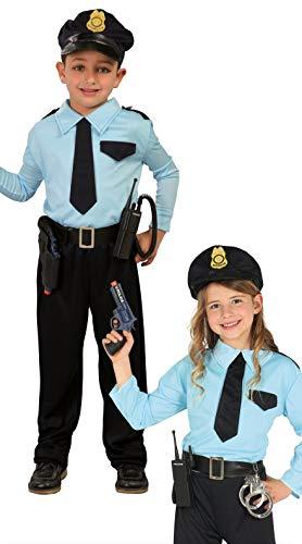 Guirca- Costume da Poliziotto Bambino 5 6 Anni Maschio, 5-6, 82730