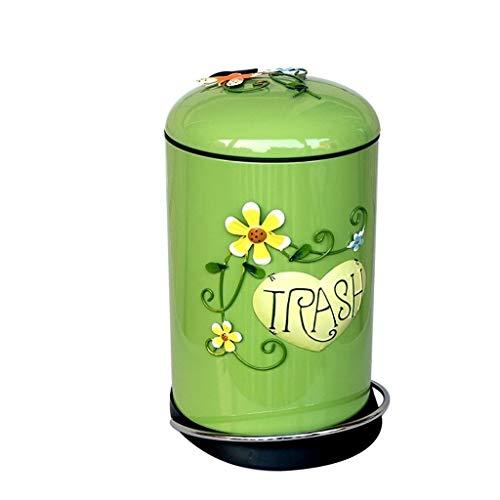 Cubo de Basura de Interior Color creativo Bote de basura doble Personalidad Pedal Bote de basura Sala de estar Multi-color Opcional Bote de basura Papeleras de la Cocina de la Cesta de Papel de la