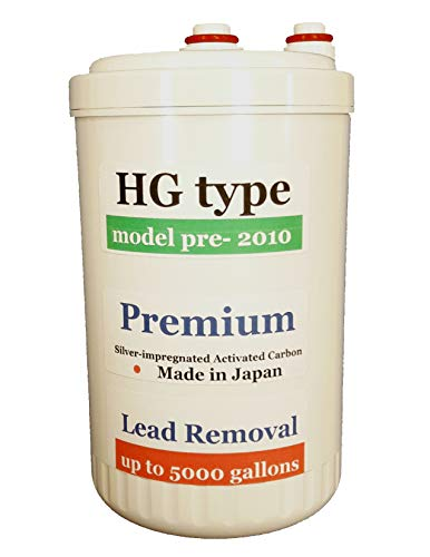 """Japan Made """"HG"""" Type Premium Grade Lead Removal Compatible Alkaline Original Water Filter (Not Compatible with Newer HG-N Type After 2011 Models)"""