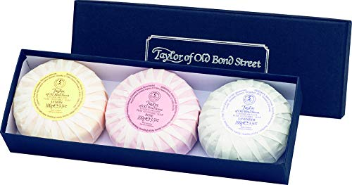 Taylor of old Bond Street Herrenpflege Sandelholz-Serie Seifenset 1 x Honey 100 g + 1 x Rose 100 g + 1 x Lavender 100 g 1 Stk.