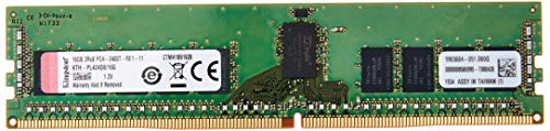Memória Kingston KTH-PL424D8/16G - Memória de 16GB RDIMM DDR4 2400mhz 1,2v 2rx8 para servidor HP