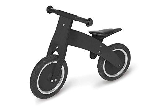 Pinolino Laufrad Pirat, aus Holz, unplattbare Bereifung, umbaubar vom Chopper zum Laufrad, für Kinder von 2 – 5 Jahren, schwarz