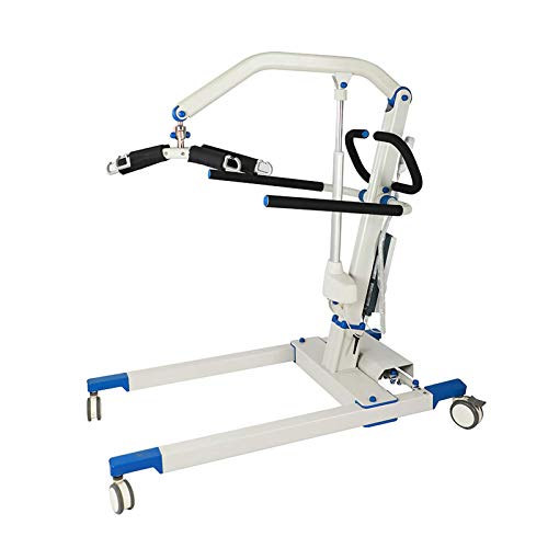 Foldable Portable Patient Lift Electric Hoist Electric Patient Transfer Lift, Easy for Operation with Emergency Stop Button, 700Lb Weight Capacity