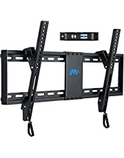 """Mounting Dream TV Mount for Most 37-70 Inches TVs, Tilt TV Wall Mount Fits 16"""", 18"""", 24"""" Studs with Loading 132 lbs & Max VESA 600x400mm, Low Profile Wall Mount Bracket MD2268-LK"""
