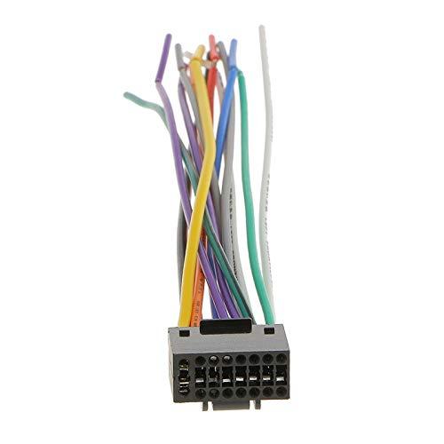 DEFTSHEEP 1 UNID 16 CM Radio de automóvil Cable de Enchufe de Alambre de Alambre estéreo con Conector de 16 Pines para Ken-Wood se reúne los códigos de Color EIA Accesorios para automóviles