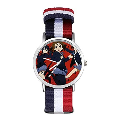 K-ONBraided Reloj de banda con escala de moda ajustable para negocios, banda de impresión a color, adecuado tanto para hombres como para mujeres
